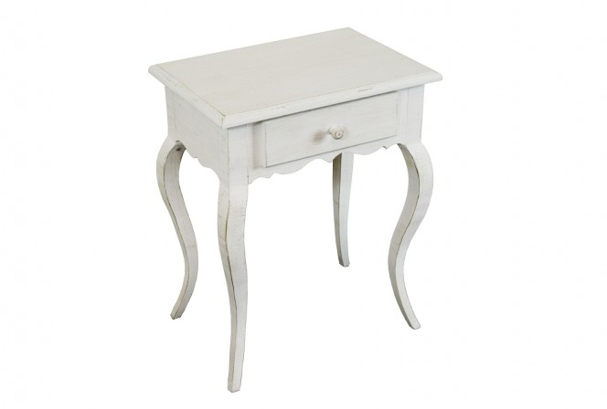 Commode 51x35x62 WHITE WIPED
