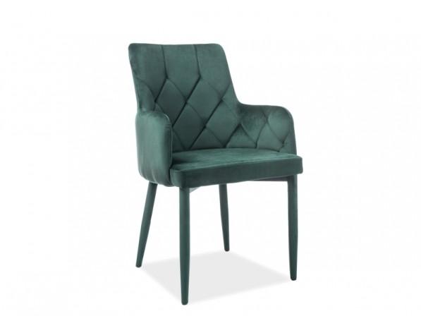 Riccardo - sammetsstol, grön