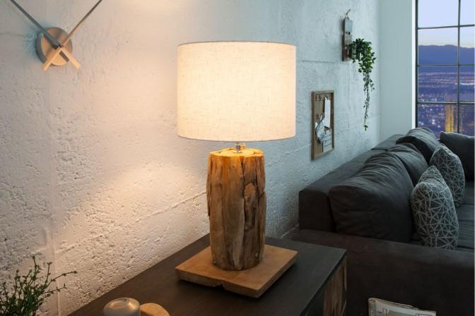 DESME - HANDGJORD LAMPFOT I TEAK
