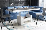 Bench AVERSA LUX black table top