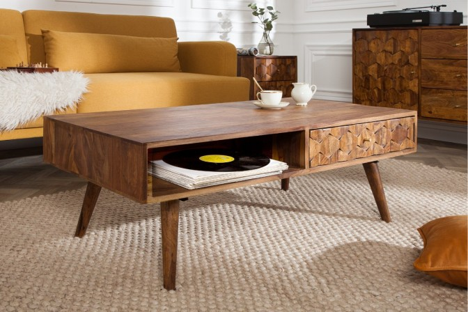 Coffee table Mystic Living 110cm Sheesham