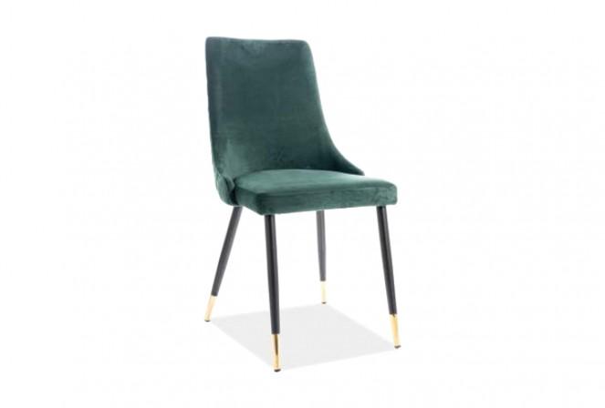 KLAVER - Stol i lyxig sammet grön
