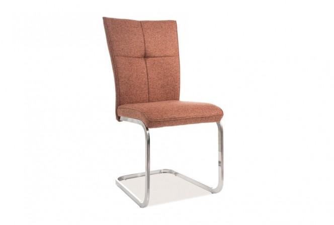 KLAVER - Stol i avslappnande rött med kromram