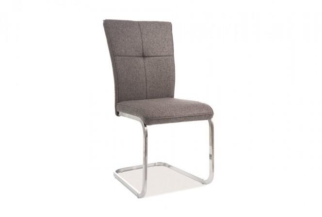 KLAVER - Stol i grå färg med kromram