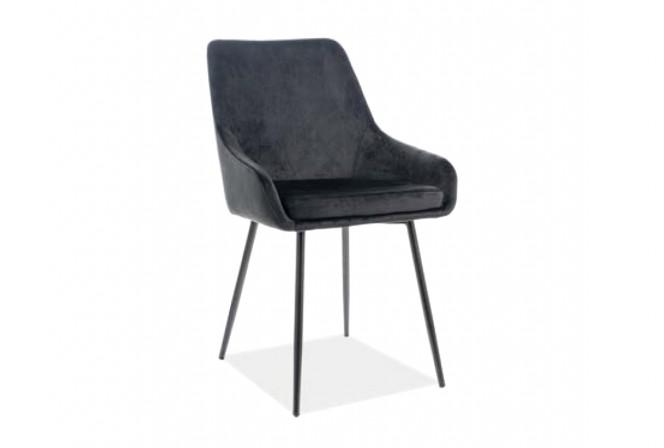 Albi Velvet chair in black
