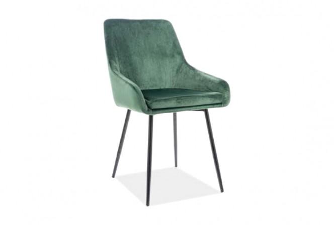 KLAVER - Skön och lyxig sammetstol i grönt