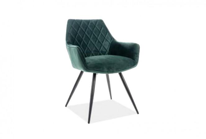 KLAVER - Lyxig stol i grön Bluvel-sammet 86 cm