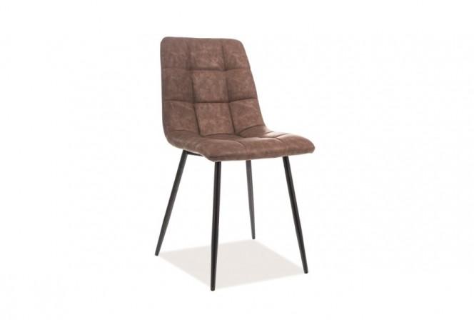 KLAVER - Stol med en behaglig brun färg 88 cm
