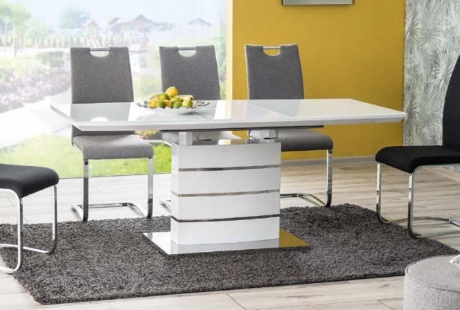 LEANDRO - Matbord med förlängningsfunktion högglans