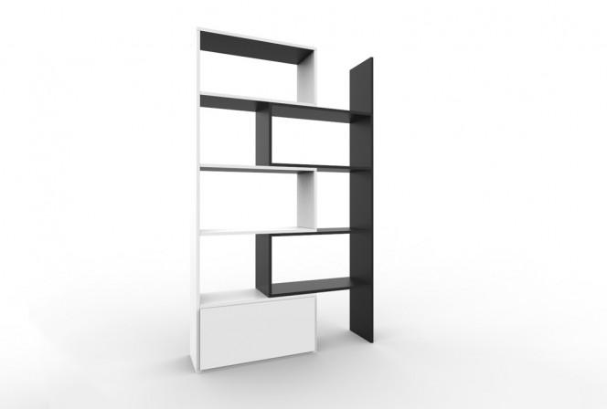 SLIDE - modern hylla i 2-delar, förlängningsbar