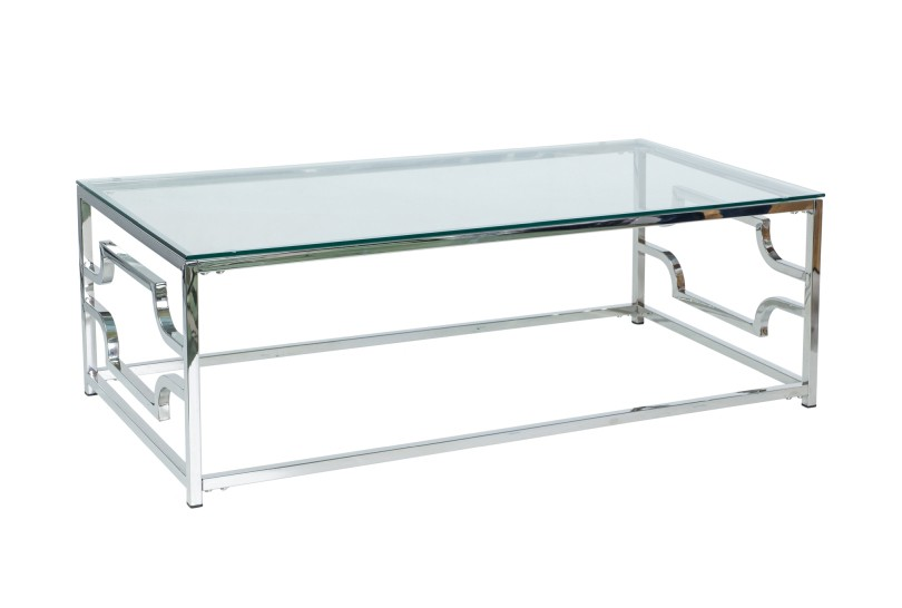 AKERYD Modernt soffbord i rostfritt stål 120 cm