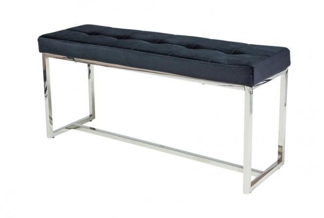 BARCELONA - Lyxig sittbänk i sammet och metall 99 cm