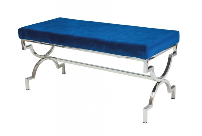 PALAU - Elegant sittbänk med sammetsöverdrag 99 cm
