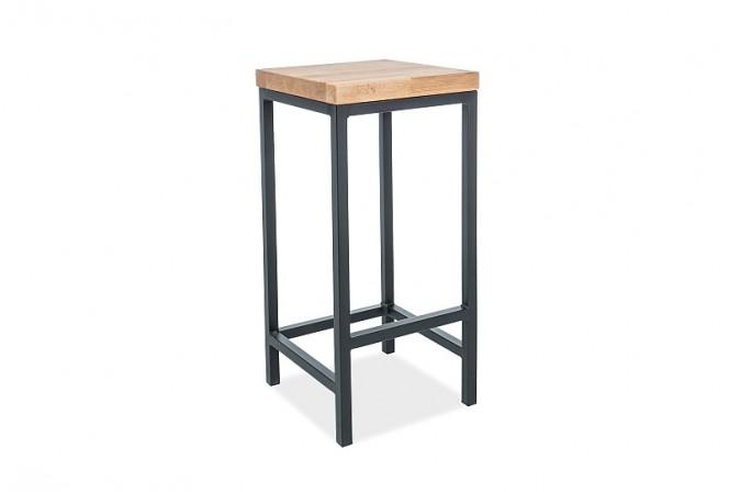 ERFORS - Stilren barstol med vacker träfanér 75 cm