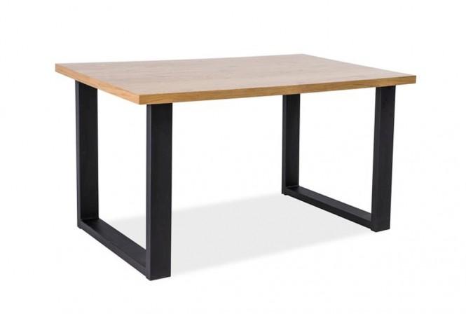 ODIN - Soffbord i vacker träfanér industriell look 110 cm