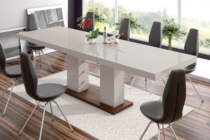 ENZIO - bord, förlängning 160-210-260cm, capuccino