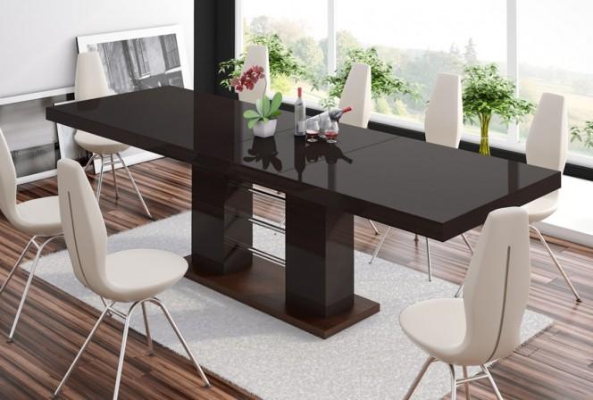 ENZIO - bord, förlängning 160-210-260cm, mörkbrun