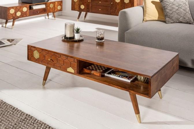 MIRAMISS - Soffbord i massivt akaciaträ 117 cm