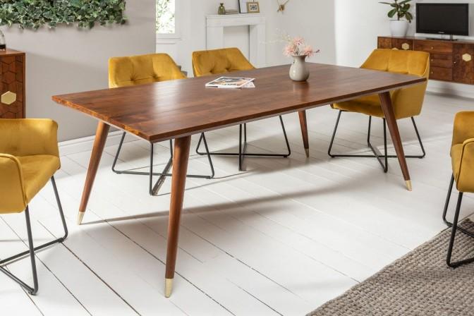 MIRAMISS - Matbord i massiv akaciaträ naturfärg