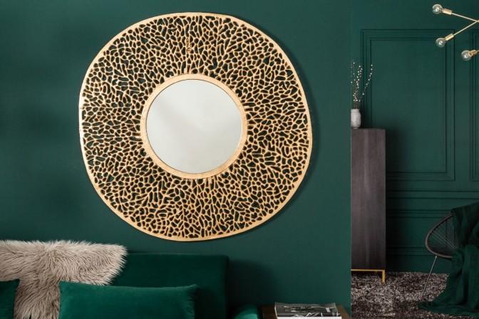 LEVA - Justerbar väggspegel guldfärg 112 cm