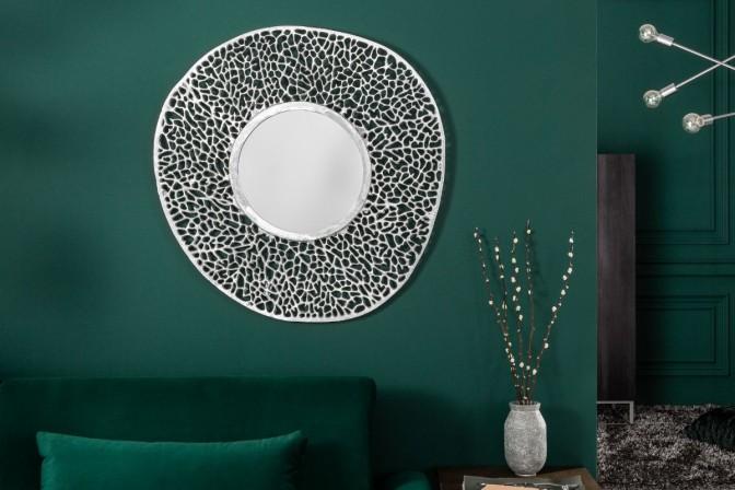 LEVA - Justerbar väggspegel 76 cm silver