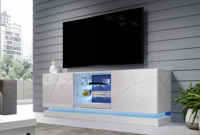 Babylon II - TV-bänk med inbyggd LED-belysning 160 cm