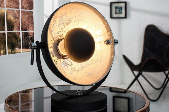 Tischleuchte Studio 40cm schwarz silber