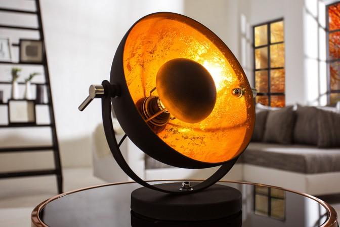 Tischleuchte Studio 40cm schwarz gold