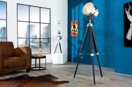 CINE - 110-150cm golvlampa i svart och krom