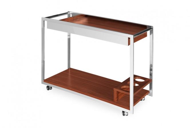 Elegant mobile wooden bar 90 x 40 x 70 cm