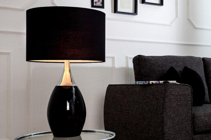 CELINE - 60cm bordslampa i svart