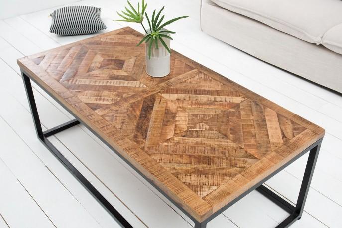 ANKPA - Handgjort soffbord i massivt mangoträ 100 cm