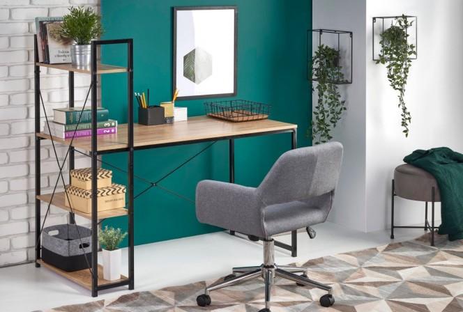 NORDLAND - Skrivbord i svart och sonomaek 120 cm