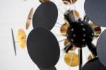Stehleuchte Infinity 170cm schwarz gold