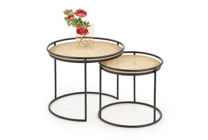 SULAWESI - Set om två soffbord industriell stil 51 cm
