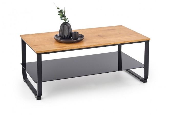 GALANT - Elegant soffbord med gyllene ekfanér 105 cm