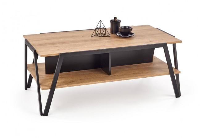 ALESSANDRO - Häftigt soffbord i industriell stil 113 cm