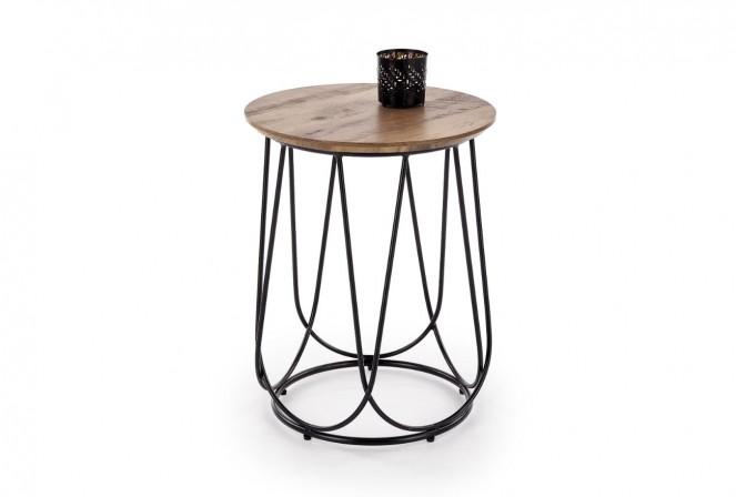 ANUBIS - Elegant sidobord i industriell stil valnöt 40 cm