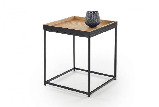 JAVA - Elegant soffbord med överdrag i naturfanér 42 cm