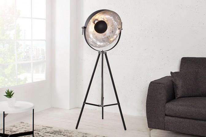 Stehleuchte Big Studio 160cm schwarz silber
