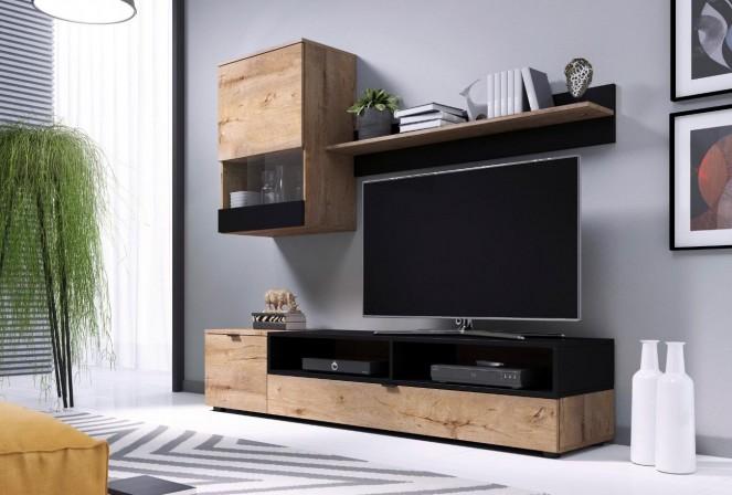 SNAPE - Väggmonterad TV-möbel i lefkasek 175x180 cm
