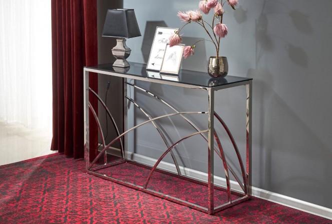 VINTERGATAN - Konsol-/sminkbord i häftig design glas/stål 120x40 cm