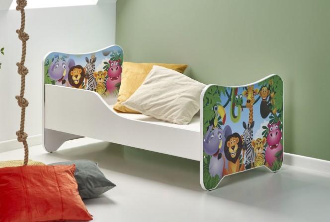 REGNSKOG - Rolig och glädjespridande barnsäng 145x76 cm