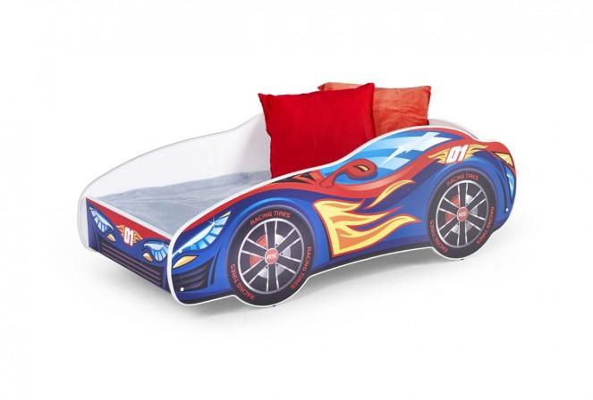 TEMPO - Rolig barnsäng i form av en racerbil 151x75 cm