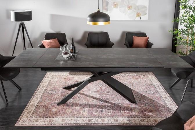 MALIBU - Vackert matbord med förlängningsfunktion lava
