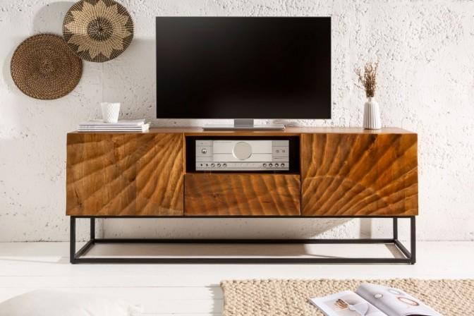 RENFE - Handgjord TV-möbel i massivt mangoträ 160 cm