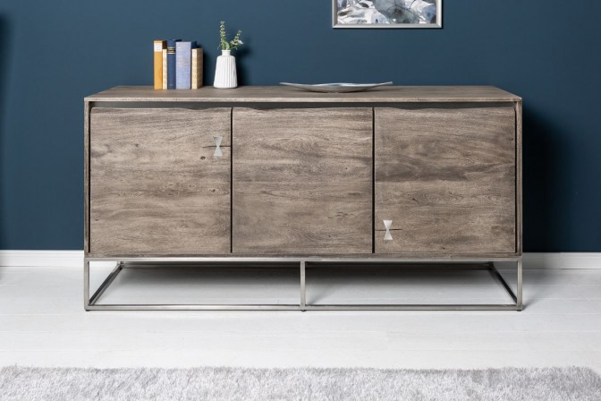 DJINGIS - Handgjort sidobord i massivt akaciaträ 147 cm