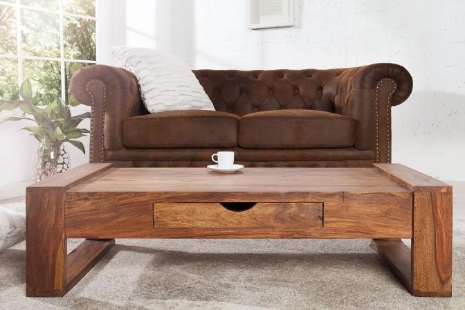 SOLID – 100 cm soffbord i sheesham-trä