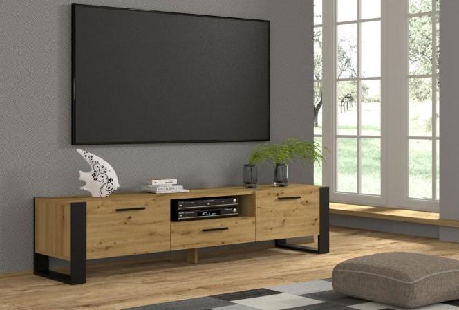 TV STAND NUKA 200 CM STANDING ARTISAN OAK / BLACK