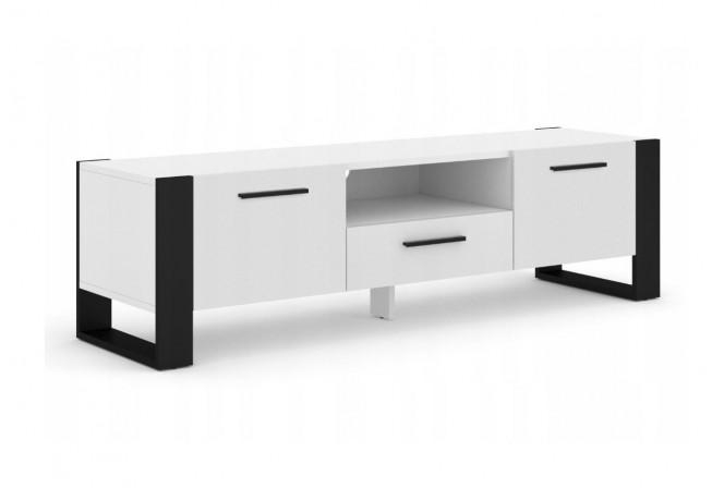 TV STAND NUKA 160 CM STANDING WHITE MATT / BLACK